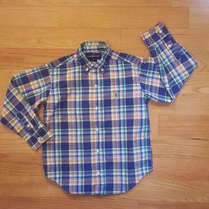 Boy Size 6 Ralph Lauren Plaid Buttondown Shirt